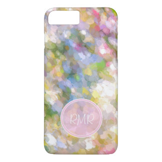 Spring Flowers Abstract Art Monogram iPhone 8 Plus/7 Plus Case