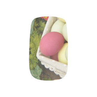 Spring Flowers and Basket of Easter Eggs Minx Nail Art