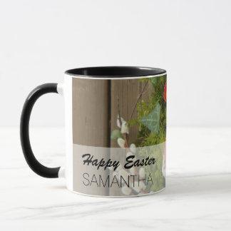Spring Flowers and Basket of Easter Eggs Mug