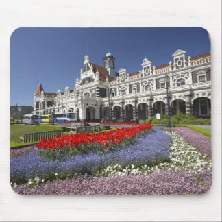 Spring Flowers and Historic Railway Station, Mouse Pad