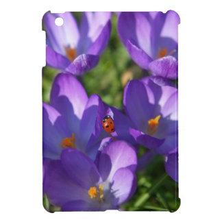 Spring flowers and ladybug iPad mini covers