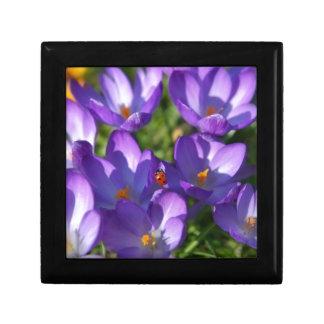 Spring flowers and ladybug keepsake boxes