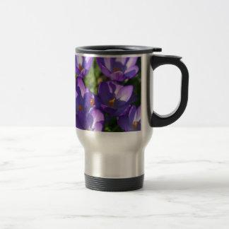 Spring flowers and ladybug travel mug