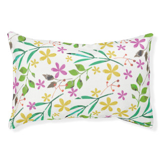 Spring flowers  and leafs pet bed