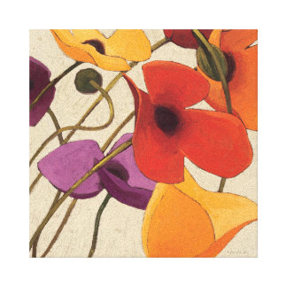 Spring Flowers and Stems Canvas Print
