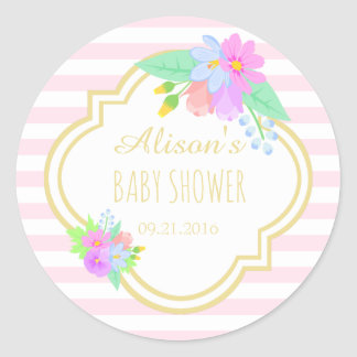 Spring Flowers Baby Shower Sticker 1½ inch