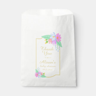 Spring Flowers Baby Shower Thank You Favor Bag
