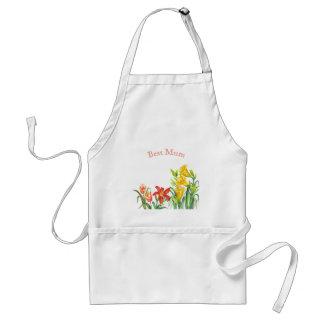 Spring Flowers Botanical Illustration Standard Apron
