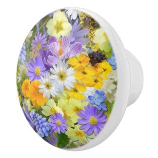 Spring Flowers Ceramic Knob