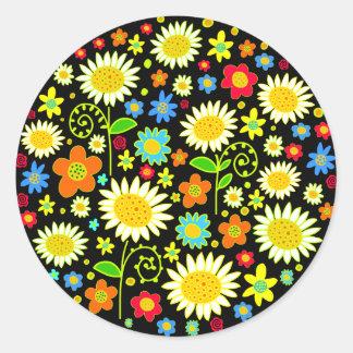 Spring Flowers Classic Round Sticker