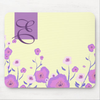 Spring Flowers Custom Mohogram Gift Mousepads