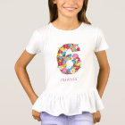 Spring Flowers Garden Six Girl 6th Birthday Party T-Shirt