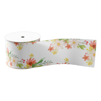 Spring Flowers Grosgrain Ribbon