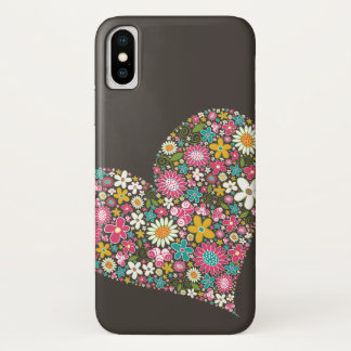 Spring Flowers Heart Twist iPhone CaseMate iPhone X Case