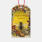 SPRING FLOWERS HONEY BEE ,BEEKEEPER Christmas Gift Tags