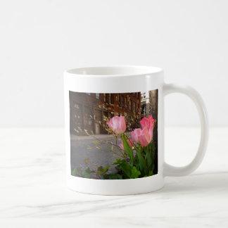 Spring Flowers in Soho, New York City Basic White Mug