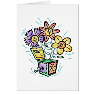 Spring Flowers Jack in Box Greeting Card
