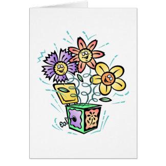 Spring Flowers Jack in Box Greeting Card