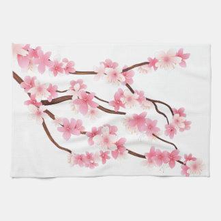 spring flowers kitchen towel