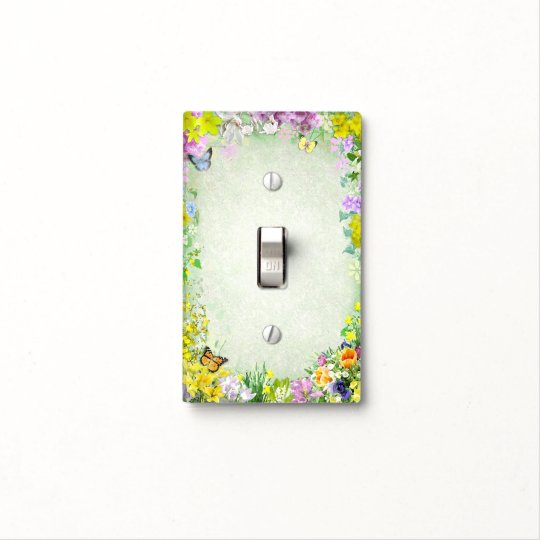 Spring Flowers Light Switch Cover
