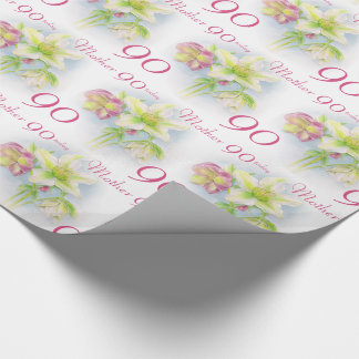 Spring flowers mother 90th birthday wrap