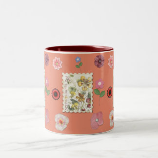 Spring Flowers-Mugs- Home Expression Designs Two-Tone Coffee Mug