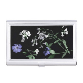 Spring flowers on black Business Card Holder