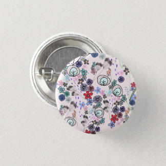 Spring flowers' pattern button