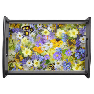 Spring Flowers pattern Serving Tray