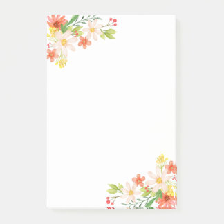 Spring Flowers Post-it Notes