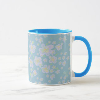 Spring Flowers (purple/aqua) Mug