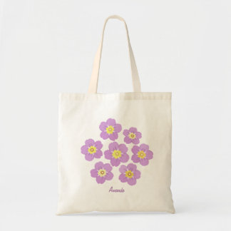 Spring Flowers Purple Flora Personalized Tote Bag