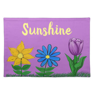 Spring Flowers Purple Placemat