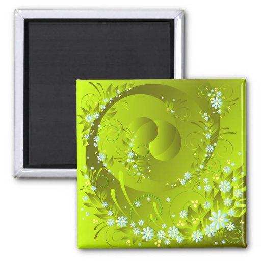 spring flowers refrigerator magnet