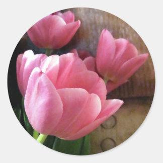 Spring Flowers Round Sticker