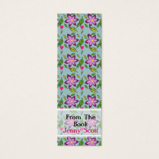 Spring Flowers, Skinny Card Bookmark