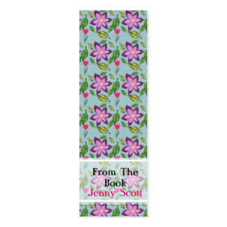 Spring Flowers, Skinny Card Bookmark Mini Business Card