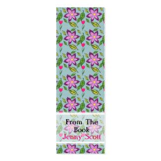 Spring Flowers, Skinny Card Bookmark Pack Of Skinny Business Cards