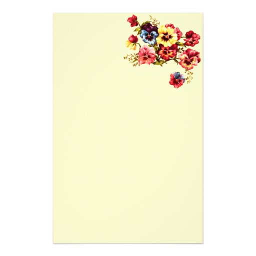 Spring Flowers Stationery