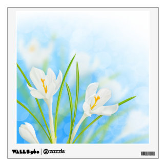 Spring flowers (white crocus) wall sticker