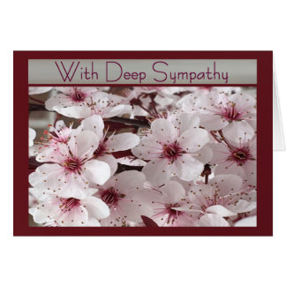 Spring Flowers With Deep Sympathy Card for Anyone