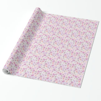 spring flowers wrapping paper