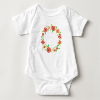 Spring flowers wreath baby bodysuit
