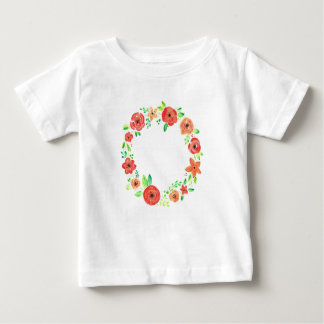 Spring flowers wreath baby T-Shirt