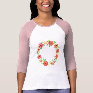Spring flowers wreath T-Shirt