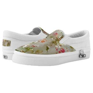 Spring Flwr Custom Zipz Slip On Shoes,Men & Women