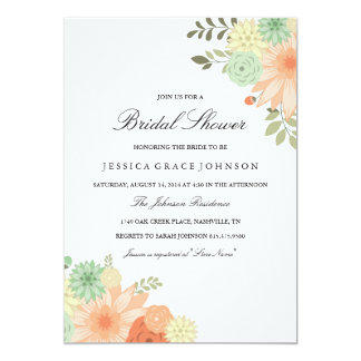 Spring Foliage Bridal Shower Invitation