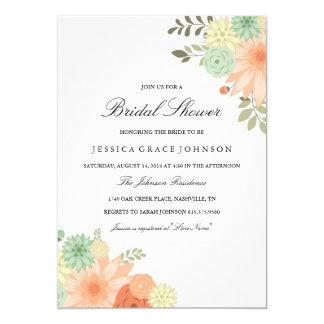 Spring Foliage Bridal Shower Invitation