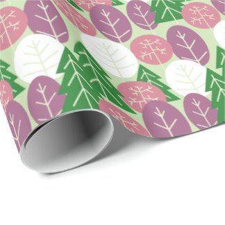 Spring Forest Trees Outdoors Pink Springtime Woods Wrapping Paper