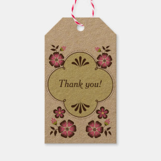 Spring Frame Thank You Label Pack Of Gift Tags